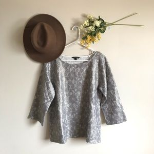Banana Republic Shimmer Lace Bonded Sweater